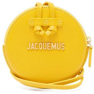 Jacquemus Le Pitchou Leather Coin Purse Necklace - Womens - Yellow