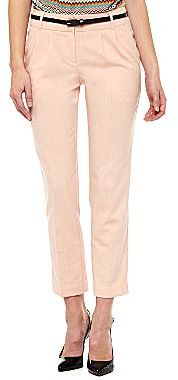 JCPenney Worthington® Slim Belted Ankle Pants