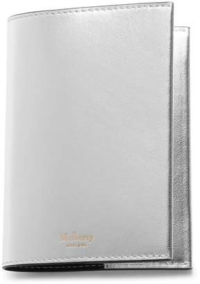 Mulberry Passport Cover Light Silver Metallic Nappa