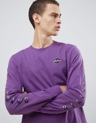 Billabong Heritage Long Sleeve Top in Purple