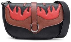Just Cavalli Embroidered Leather Shoulder Bag