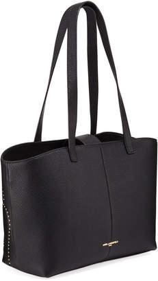 Karl Lagerfeld Paris Flora Flower-Stud Leather Shoulder Tote Bag