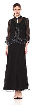 J Kara Women's Beaded Long Jacket Dress