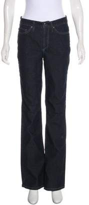 Cambio Mid-Rise Wide-Leg Jeans