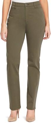 Gloria Vanderbilt Petite Amanda Modern Tapered Twill Trouser Pants