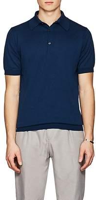 John Smedley Men's Knit Cotton Polo Shirt