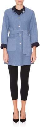 Ply Knits Dato Mandarin Collar Reversible Coat