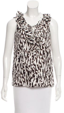 Kate Spade New York Ruffle-Accented Printed Blouse