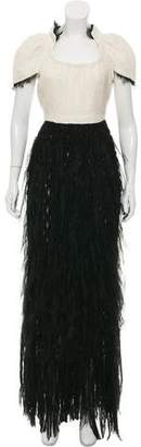 Chanel Raw-Edge Evening Dress