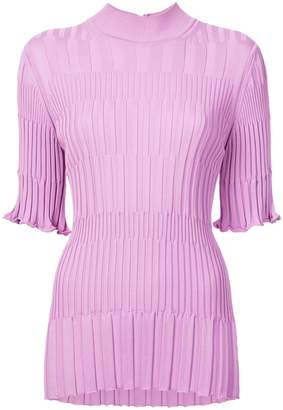 Carolina Herrera ribbed short-sleeve knit