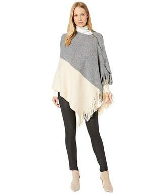 Steve Madden Color Block Poncho with Side Zipper