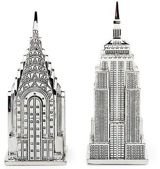 One Kings Lane Empire State/ Chrysler Salt & Pepper Set