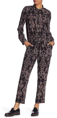 Scotch & Soda Printed Long Sleeve Jumpsuit