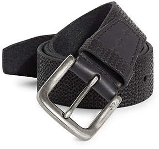 John Varvatos Textured Leather Belt