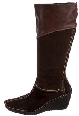 Pons Quintana Suede Knee-High Boots