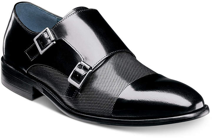 Stacy Adams Men's Jennings Cap-Toe Double-Monk Strap Loafers Men's Shoes