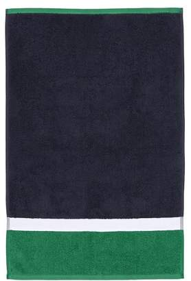 Pottery Barn Teen Color Block Towel, Navy/Green, Hand
