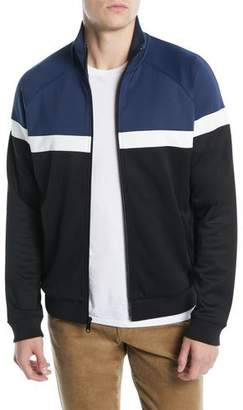 Vince Men's Colorblock Zip-Front Track Jacket