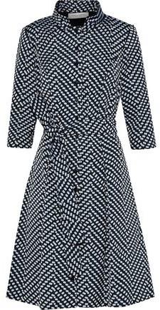Belted Jacquard Shirt Dress