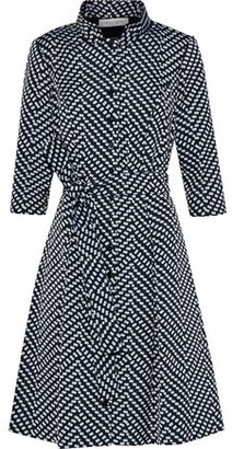 Carolina Herrera Belted Jacquard Shirt Dress