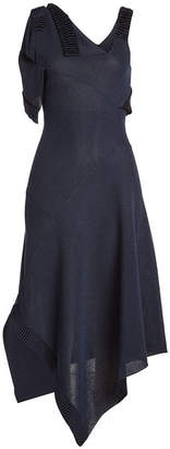 Victoria Beckham Asymmetric Knit Dress