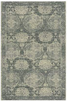 Pottery Barn Barret Custom Printed Rug - Dark Celadon