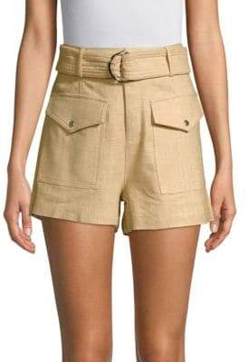 Moon River Casual Belted Shorts