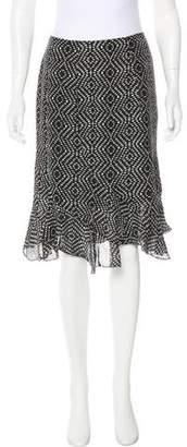 L'Agence Silk Knee-Length Skirt w/ Tags