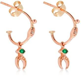 Celine Daoust Moon Croissant Earrings