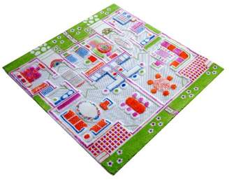 Little Helper 3D Childrens Play Rug in Town Traffic Design, Blue (134 x 180cm)