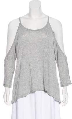 Haute Hippie Cold-Shoulder Long Sleeve Top w/ Tags