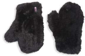 Glamour Puss Glamourpuss Knitted Faux Fur Mittens