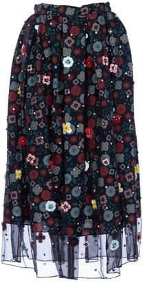 Holly Fulton Black Silk Skirt for Women