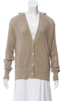 Alexander Wang Hooded Button-Up Cardigan
