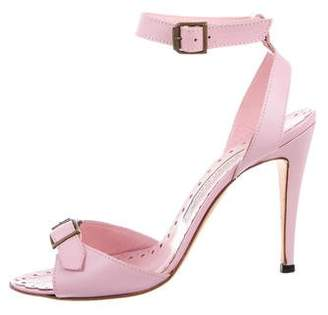 Manolo Blahnik Leather Buckle Sandals