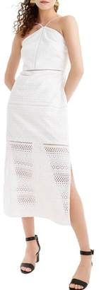 J.Crew String Halter Eyelet Dress