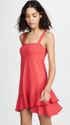 Susana Monaco Crossover Ruffle Dress
