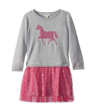 Hatley Sparkle Horse Drop Waist Tulle Dress (Toddler/Little Kids/Big Kids)