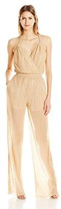 Just Cavalli Women's Metallic Jersey Jumpsuit
