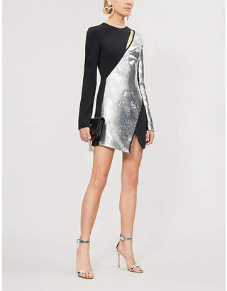 David Koma Sequin-embellished crepe dress