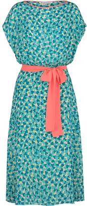 Libelula Cosrob Dress Turquoise Hearty Print