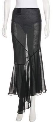 Jean Paul Gaultier Semi-Sheer Maxi Skirt