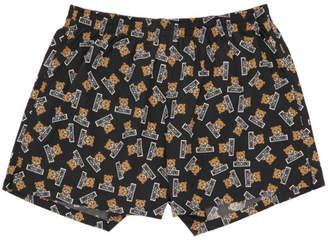Moschino Navy Bear Logo Boxer Briefs