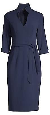Black Halo Women's Madeline Tie-Front Sheath Dress
