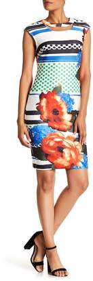 ECI Print Scuba Shift Dress