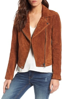Women's Blanknyc Suede Moto Jacket $188 thestylecure.com