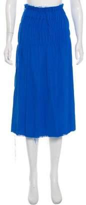 Helmut Lang Frayed Crepe Skirt