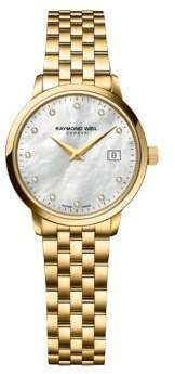Raymond Weil Ladies Toccata Yellow Goldtone and Diamond Watch