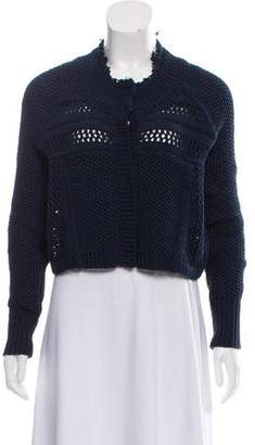 Rebecca Taylor Cropped Knit Cardigan