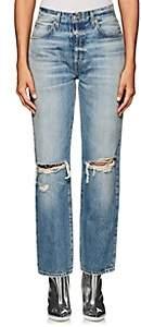 Adaptation Women's Distressed Wide-Leg Crop Jeans - Blue Size 26